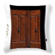 Wooden Portal Throw Pillow