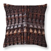 Wooden Ratha Throw Pillow
