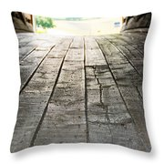 Wooden Road Throw Pillow