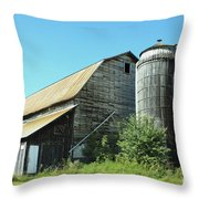 Wooden Silo Throw Pillow