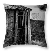 Wooden Silo Throw Pillow