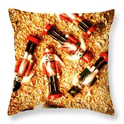 Wooden Toy Soldiers Throw Pillow