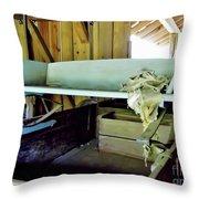 Wooden Wagon Seat Throw Pillow