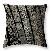 Wooden Water Wheel Throw Pillow