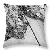 Wooden Wave Throw Pillow