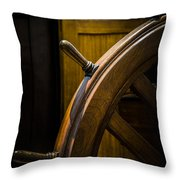 Wooden Wheel Throw Pillow