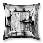 Wooden Window II Throw Pillow