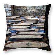 Woodford Reserve Barrels Throw Pillow