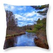 Woodhull Creek Throw Pillow