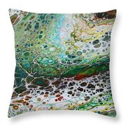 Woodland Abstract Throw Pillow