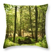 Woodland Bubble Throw Pillow