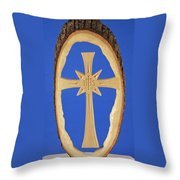 Woodland Cross Throw Pillow