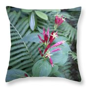 Woodland Floral Throw Pillow
