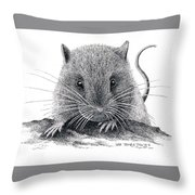 Woodland Jumping Mouse Throw Pillow