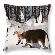 Woodland Nature Throw Pillow