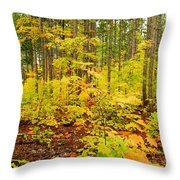 Woodland Panorama Throw Pillow