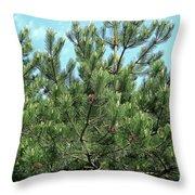 Woodland Pines Throw Pillow
