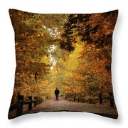Woodland Promenade Throw Pillow