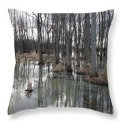 Woodland Stillness  Throw Pillow