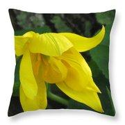Woodland Tulip Throw Pillow