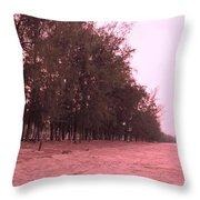 Woodlands At The Beach Throw Pillow