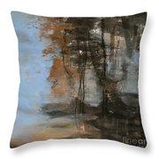 Woodlands At The Lake Throw Pillow