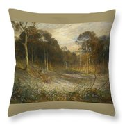 Woodlands Gay With Lady Smocks Throw Pillow