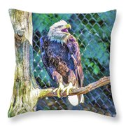 Woodlands Nature Station Throw Pillow