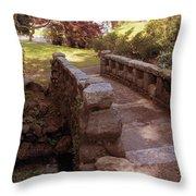 Woodlawn Footbridge Throw Pillow
