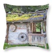 Woodman's Cabin  Throw Pillow