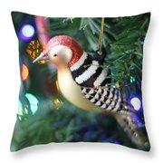 Woodpecker Ornament Throw Pillow