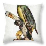 Woodpecker Red Heads Throw Pillow