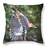 Woodpecker Wings Throw Pillow