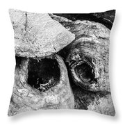 Woodpile Caves Throw Pillow