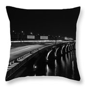 Woodrow Wilson Bridge Throw Pillow