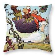 Woodrow Wilson Cartoon Throw Pillow by Granger