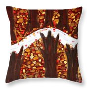 Woods In Autumn Throw Pillow