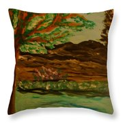 Woods Throw Pillow by Marie Bulger