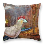 Woods Road 2 - Autumn Throw Pillow
