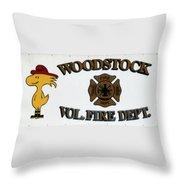 Woodstock Fire Dept Throw Pillow