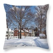 Woodstock Green Throw Pillow by Susan Cole Kelly