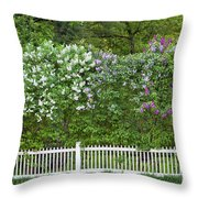 Woodstock Village Lilacs Throw Pillow