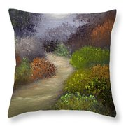 Woodsy Morning Throw Pillow