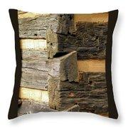 Woodwork Throw Pillow