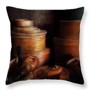 Woodworker - Shaker Box Shop  Throw Pillow