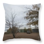 Woodworking Plant Throw Pillow
