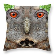 Woody 115 Throw Pillow