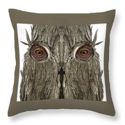 Woody 116 Throw Pillow