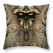 Woody 121 Throw Pillow