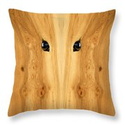 Woody 71 Throw Pillow